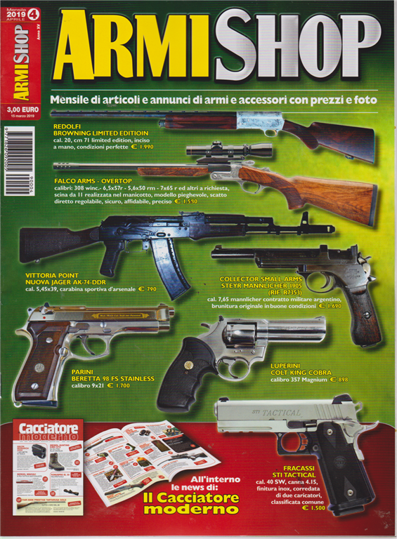Armi Shop - Annunci Armi - n. 4 - mensile - aprile 2019 -