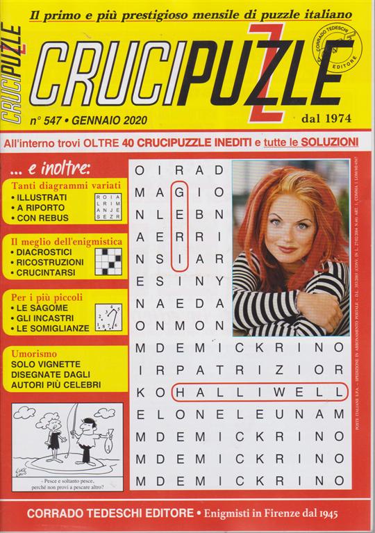 Crucipuzzle - n. 547 - gennaio 2020 - mensile