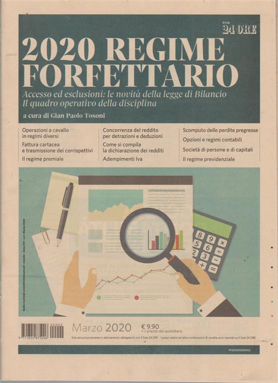 Guida ai principi contabili internazionali - 2020 regime forfettario - n. 2 - marzo 2020 - mensile