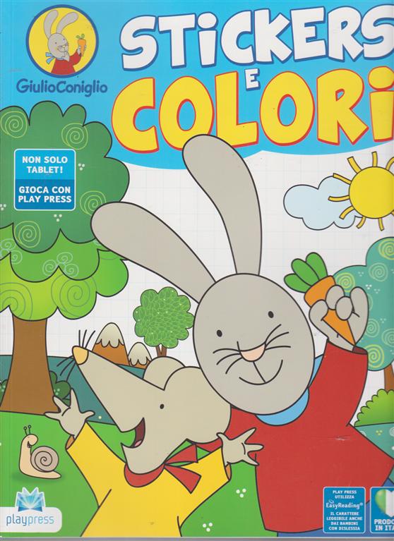 Giulio Coniglio Stickers e colori - n. 6 - aprile - maggio 2020 - bimestrale