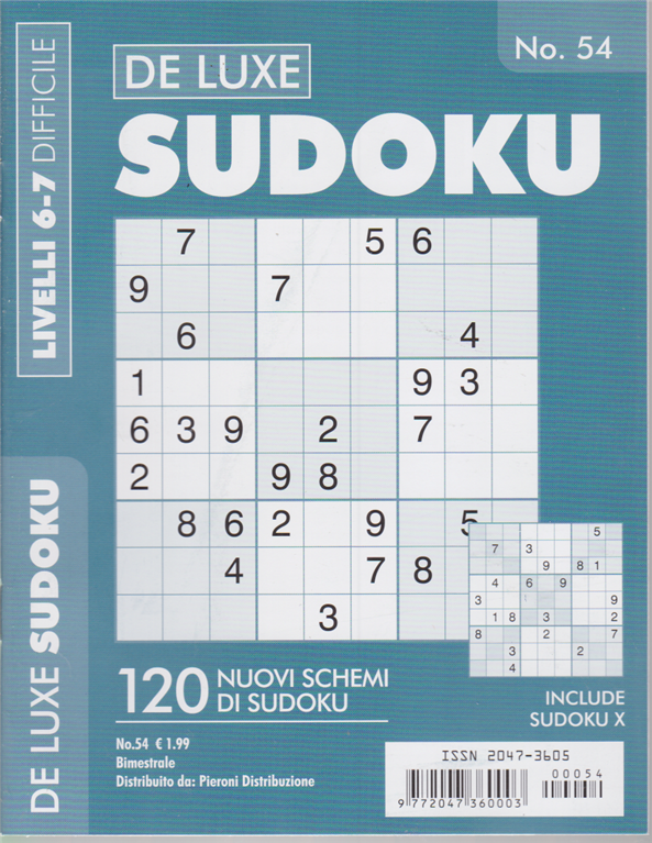 Sudoku - livelli 6-7 difficili - n. 54 - bimestrale -