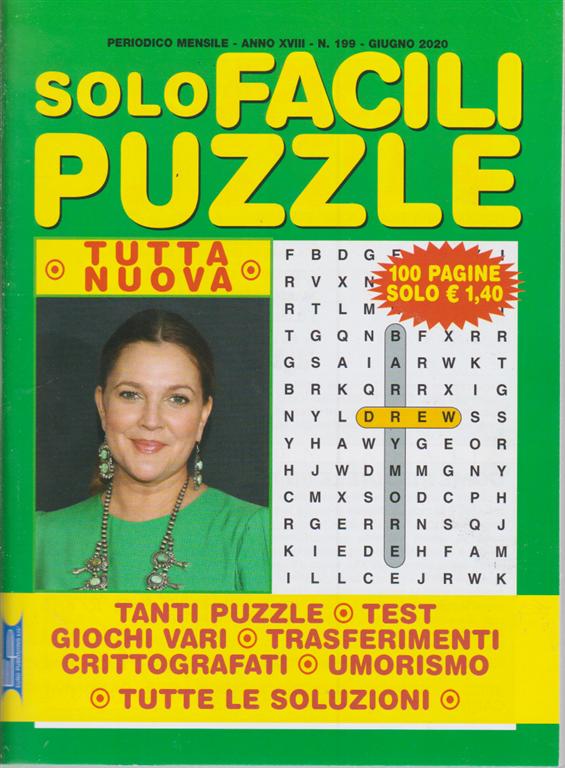 Solo Facili Puzzle - n. 199 - mensile - giugno 2020 - 100 pagine