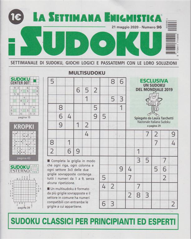 La settimana enigmistica - i sudoku - n. 96 - 21 maggio 2020 - settimanale