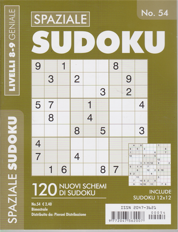 Spaziale sudoku - livelli 8-9 geniale - n. 54 - bimestrale -