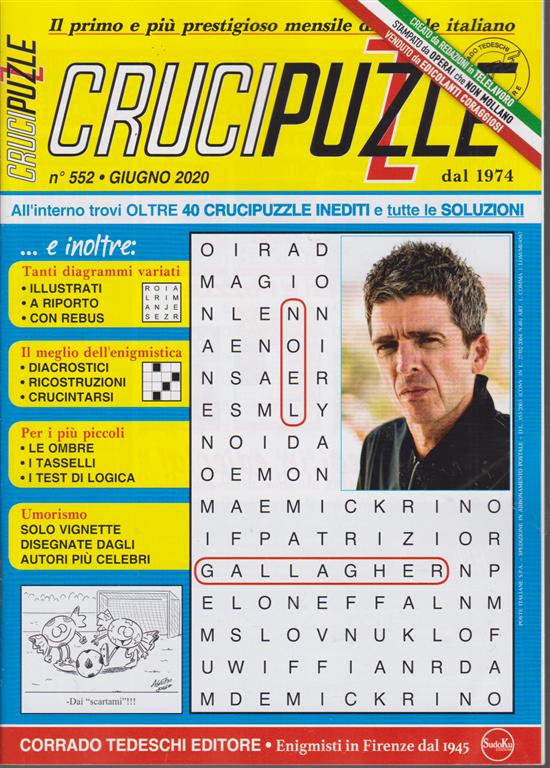 Crucipuzzle - n. 552 - giugno 2020 - mensile
