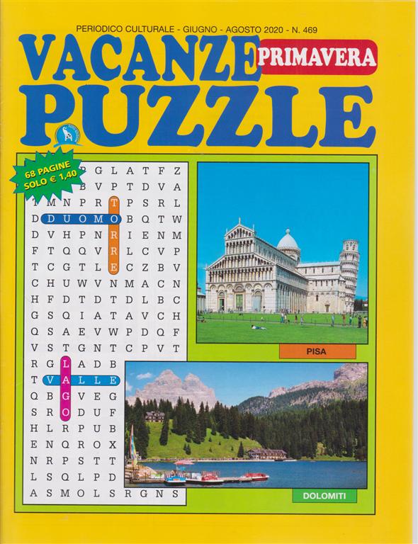 Vacanze Puzzle primavera - n. 469 - giugno - agosto 2020 - 68 pagine