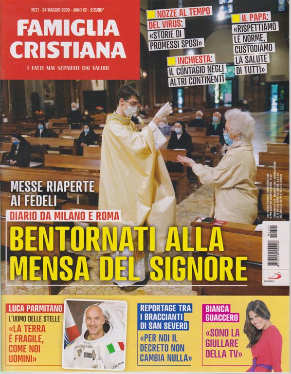 Famiglia Cristiana -n. 21 - 24 maggio 2020 - settimanale