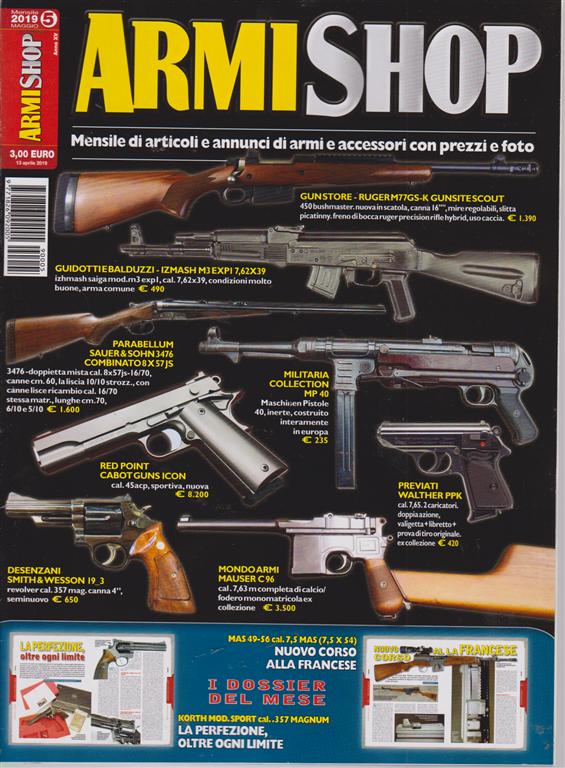 Armi Shop - Annunci Armi - n. 5 - mensile - maggio 2019 -