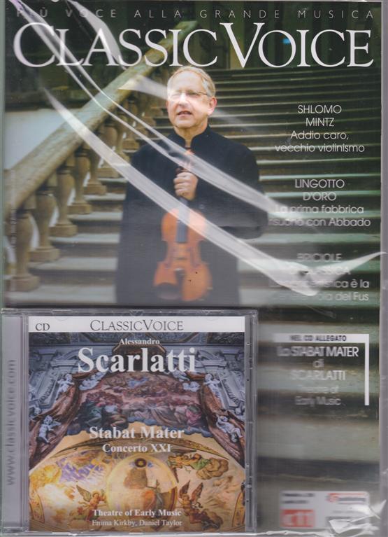Classic Voice - Alessandro Scarlatti - Stabat Mater concerto XXI - rivista + cd - mensile - aprile 2019 -