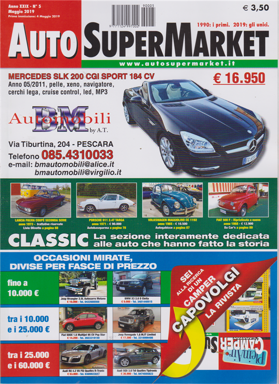 Auto Super Market - n. 5 - maggio 2019 - Camper caravan super market