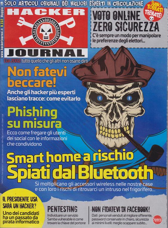 Hacker Journal - n. 232 - maggio 2019 - mensile