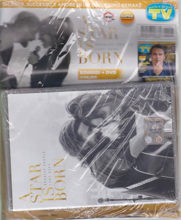 Sorrisi + dvd A star is born  con Bradley Cooper e Lady Gaga