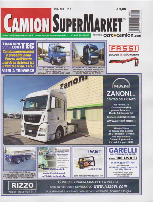 Camion Super Market - n.2 - 20 febbraio 2019 -