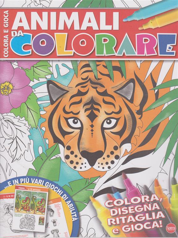 Colora E Gioca - Animali da colorare - n. 2 - bimestrale - luglio -agosto 2019 -