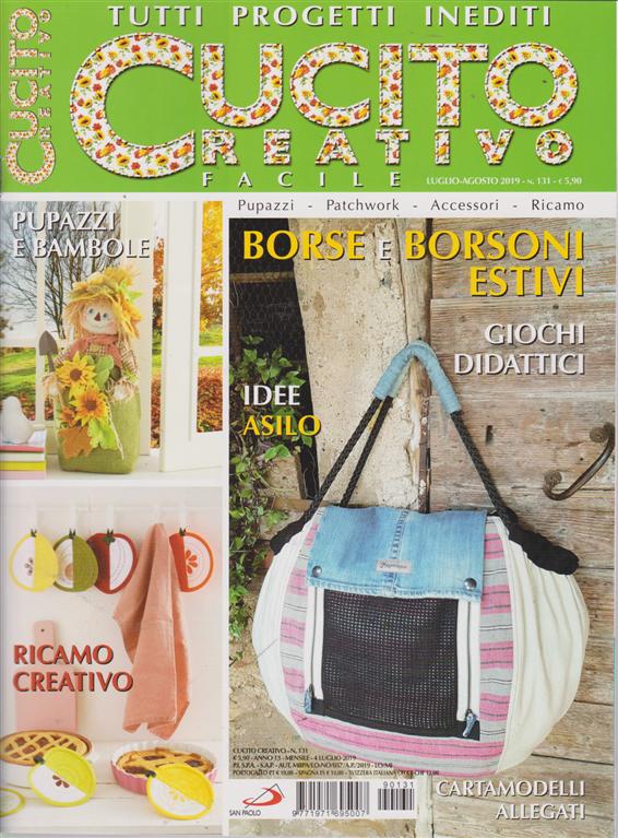 Cucito Creativo - n. 131 - luglio - agosto 2019 - mensile