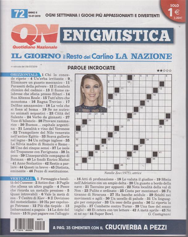 Enigmistica - n. 72 - 15/7/2019 - settimanale