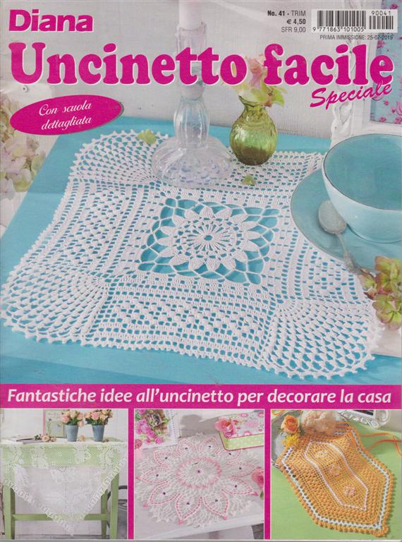 Uncinetto Facile Edicola.Diana Uncinetto Facile Speciale N 41 Trimestrale 25 7 2019