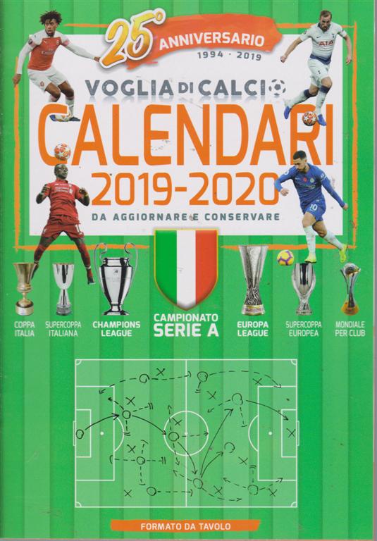 Calendario Trimestrale 2020.Voglia Di Calcio Da Tavolo N N 1 2019 Trimestrale