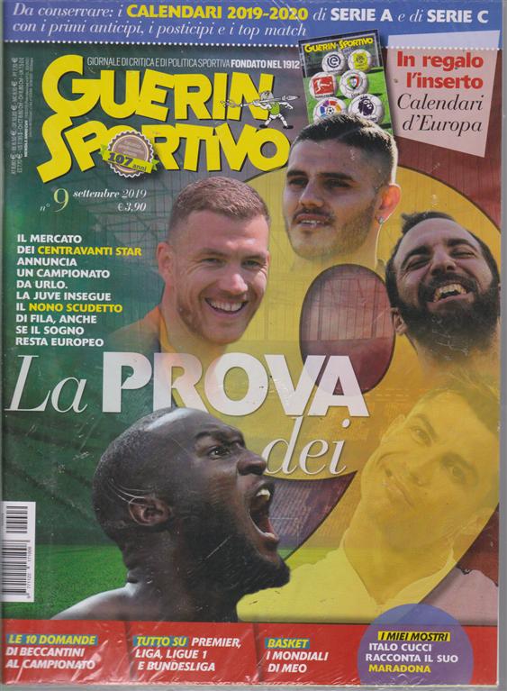 Guerin Sportivo - Calendari D'europa 2019-2020 - n. 9 - mensile - settembre 2019