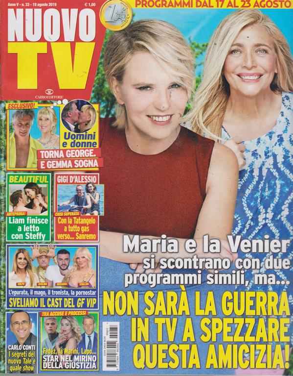 Nuovo Tv - n. 33 - 19 agosto 2019 - settimanale