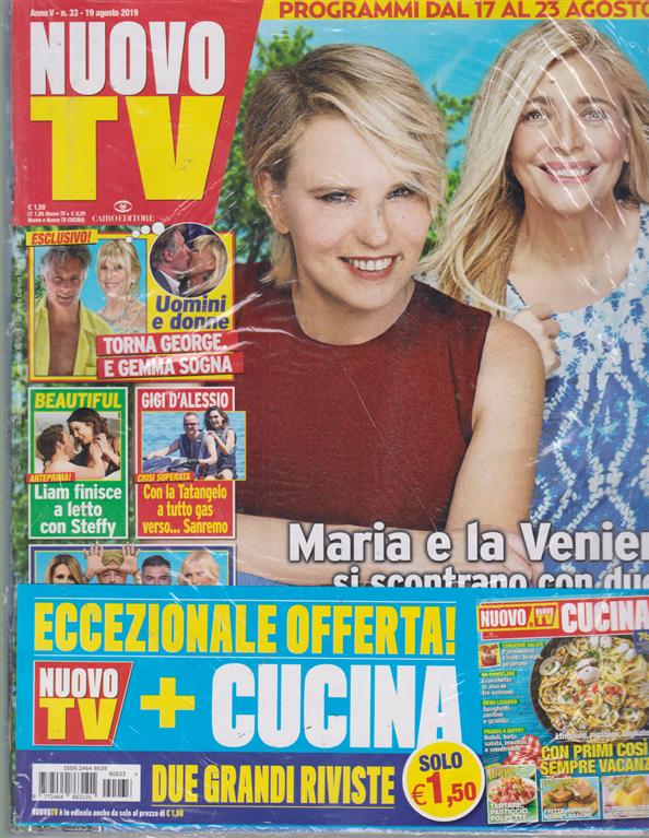 Nuovo Tv + - Nuovo Cucina - n. 33 - 19 agosto 2019 - settimanale - 2 riviste