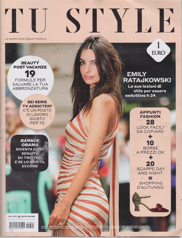Tu Style - n. 35 - settimanale - 20 agosto 2019