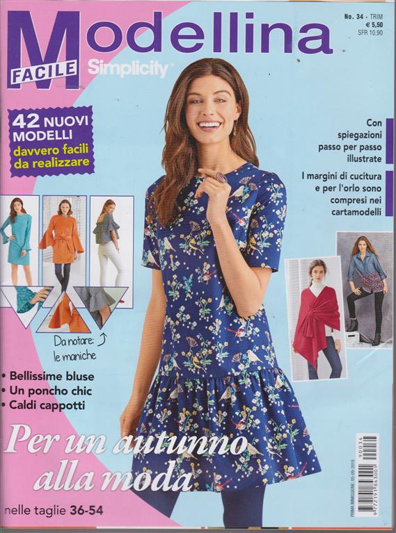 Modellina Facile - Simplicity - n. 34 - trimestrale - 5/9/2019