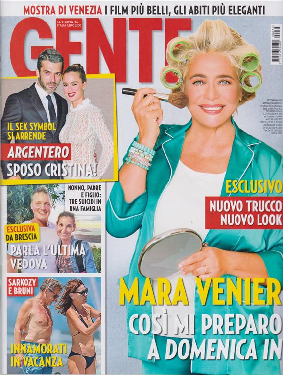 Gente - n. 36 - 14/9/2019 - settimanale