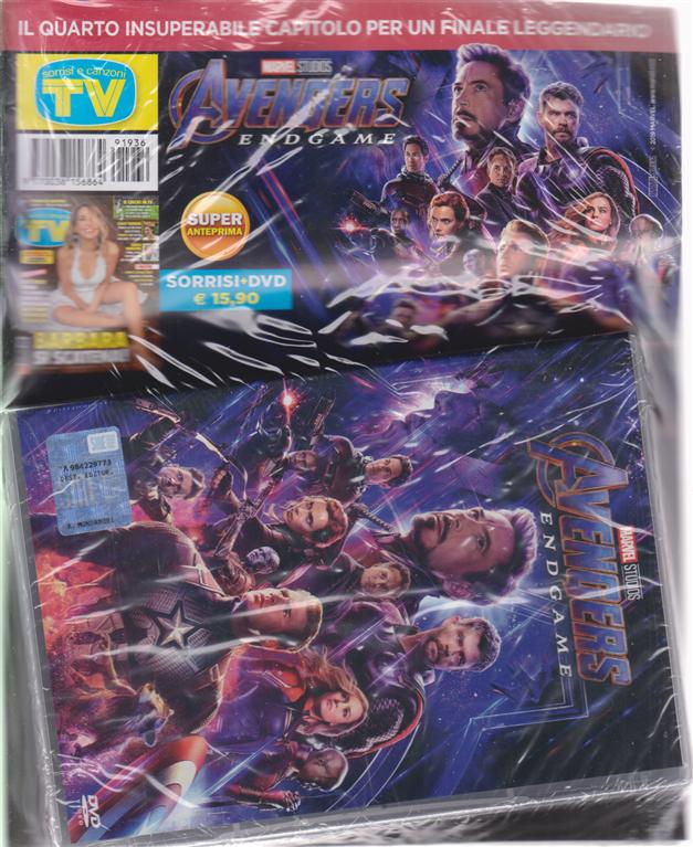 Sorrisi e canzoni tv + il dvd Avengers endgame
