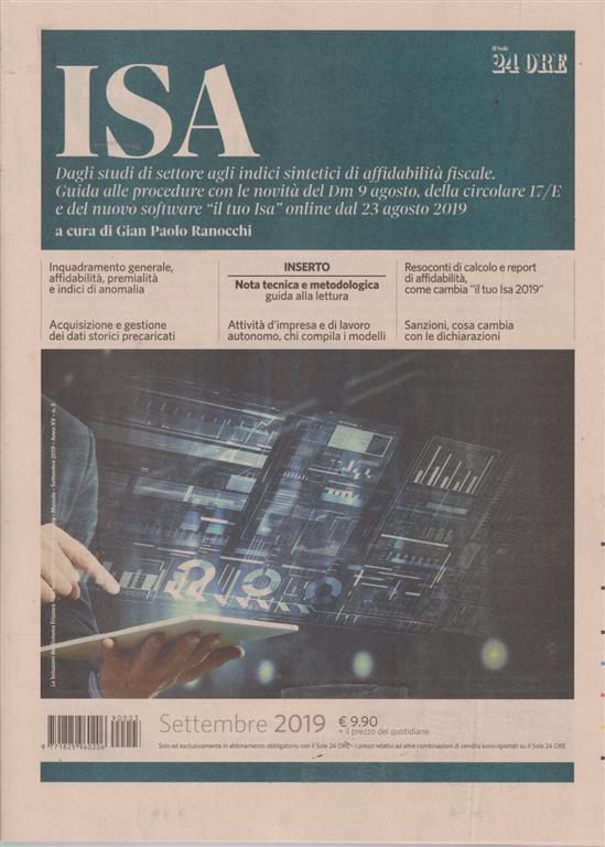 Isa - settembre 2019 - n. 3 - mensile