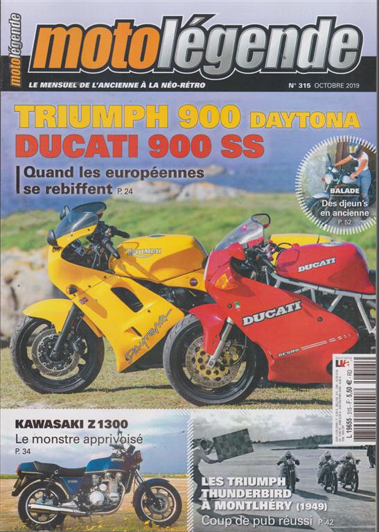 Moto Legende - n. 315 - octobre 2019 - in lingua francese