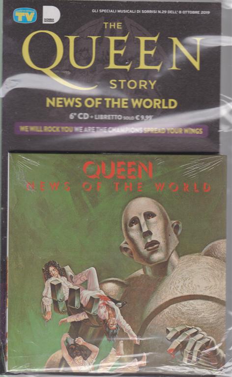 Gli speciali musicali di Sorrisi n. 29 - 8 ottobre 2019 - The Queen story - News of the world - 6° cd + libretto