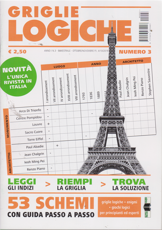 Griglie Logiche - n. 3 - bimestrale - ottobre - novembre 2019