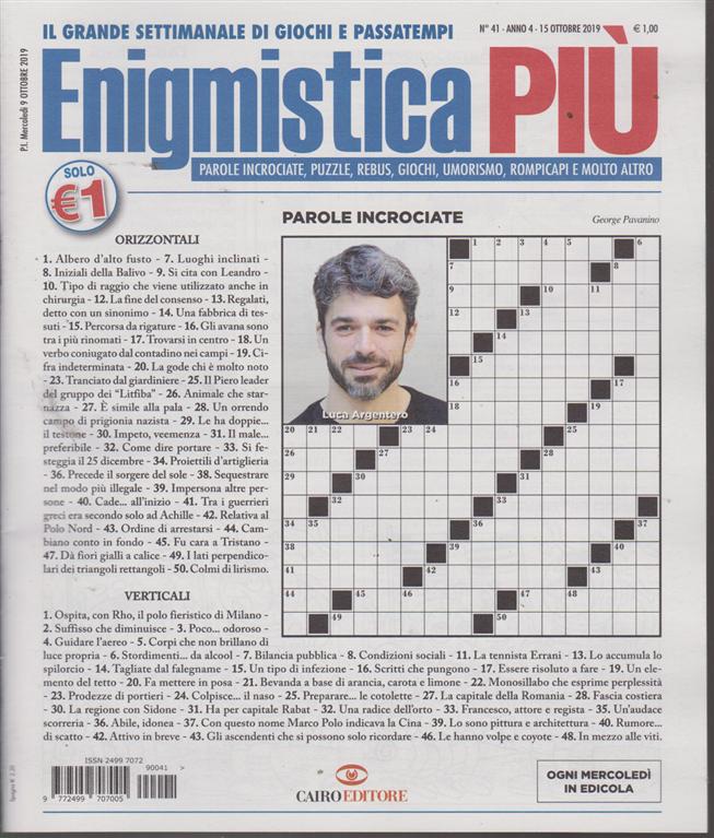 Enigmistica Piu' - n. 41 - 15 ottobre 2019 - settimanale