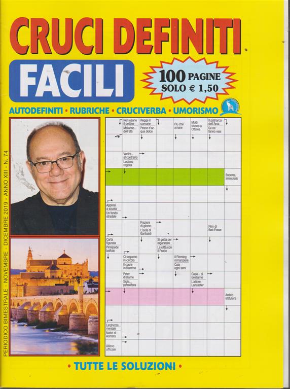 Cruci Definiti Facili - n. 74 - bimestrale - novembre - dicembre 2019 - 100 pagine