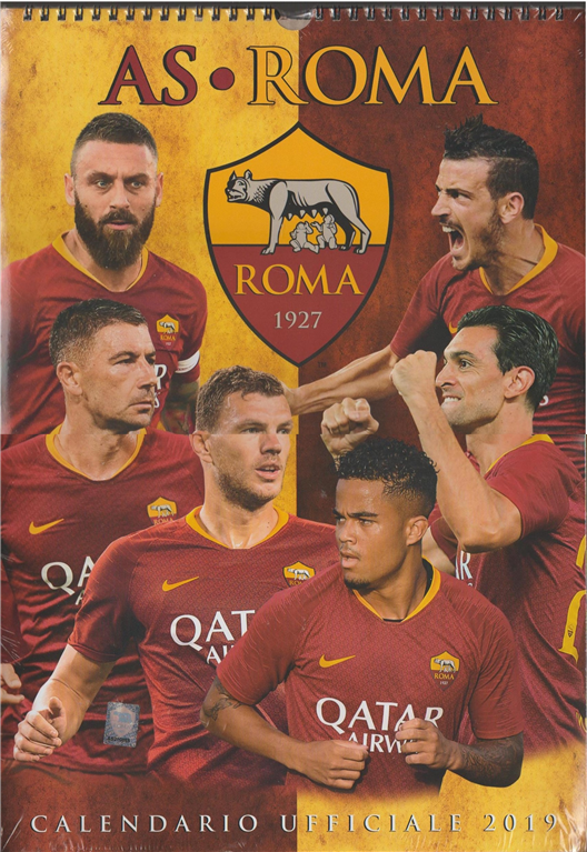 As Roma Calendario.Calendario Ufficiale 2019 As Roma Cm 29x42 Con Spirale