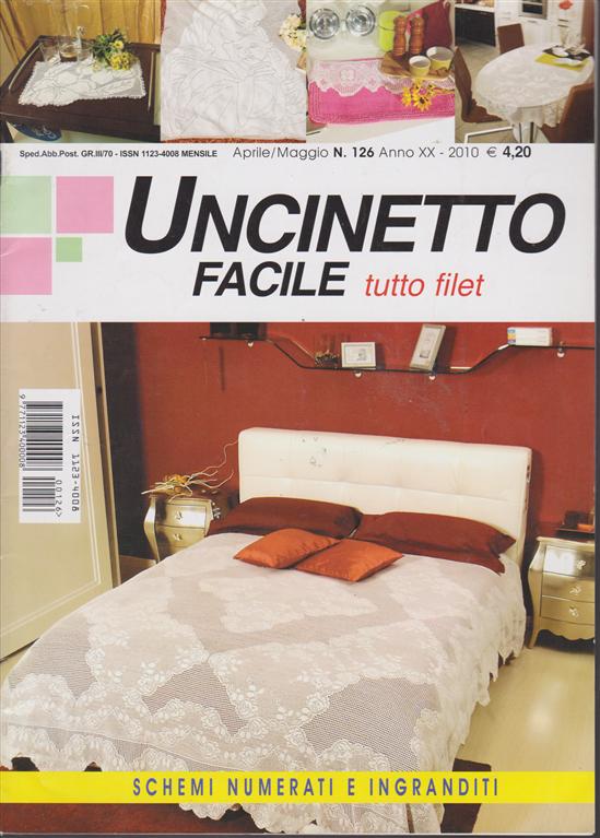 Uncinetto Facile Edicola.Uncinetto Facile Tutto Filet N 126 Aprile Maggio 2010