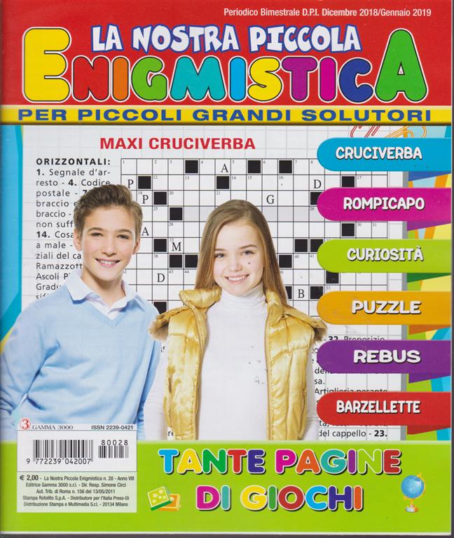 La Nostra Piccola Enigmistica - n. 28 - bimestrale - dicembre 2018/ gennaio 2019