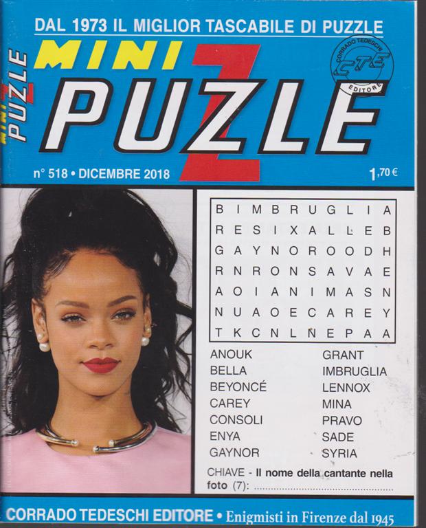 Mini puzzle - n. 518 - dicembre 2018 - mensile -