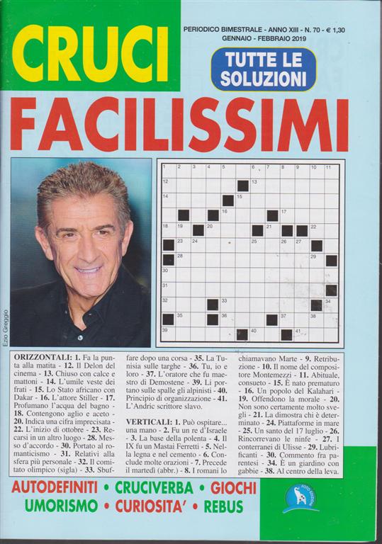 Cruci Facilissimi - n. 70 - bimestrale - gennaio - febbraio 2019