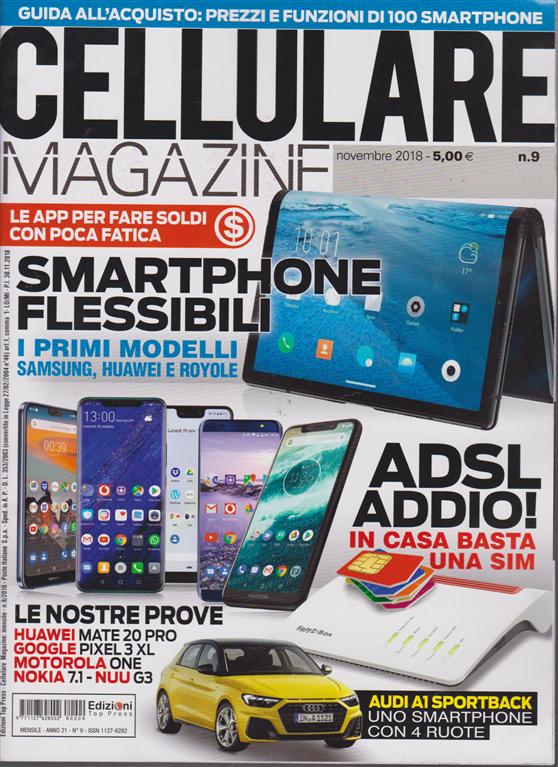 Cellulare Magazine N 9 Novembre 2018 Mensile Edicola Shop