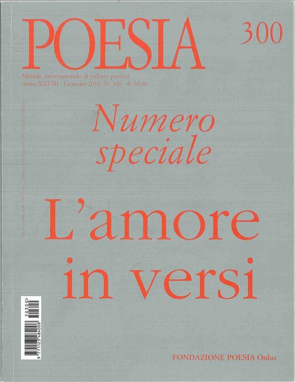 Rivista POESIA numero 300 Speciale Gennaio 2015