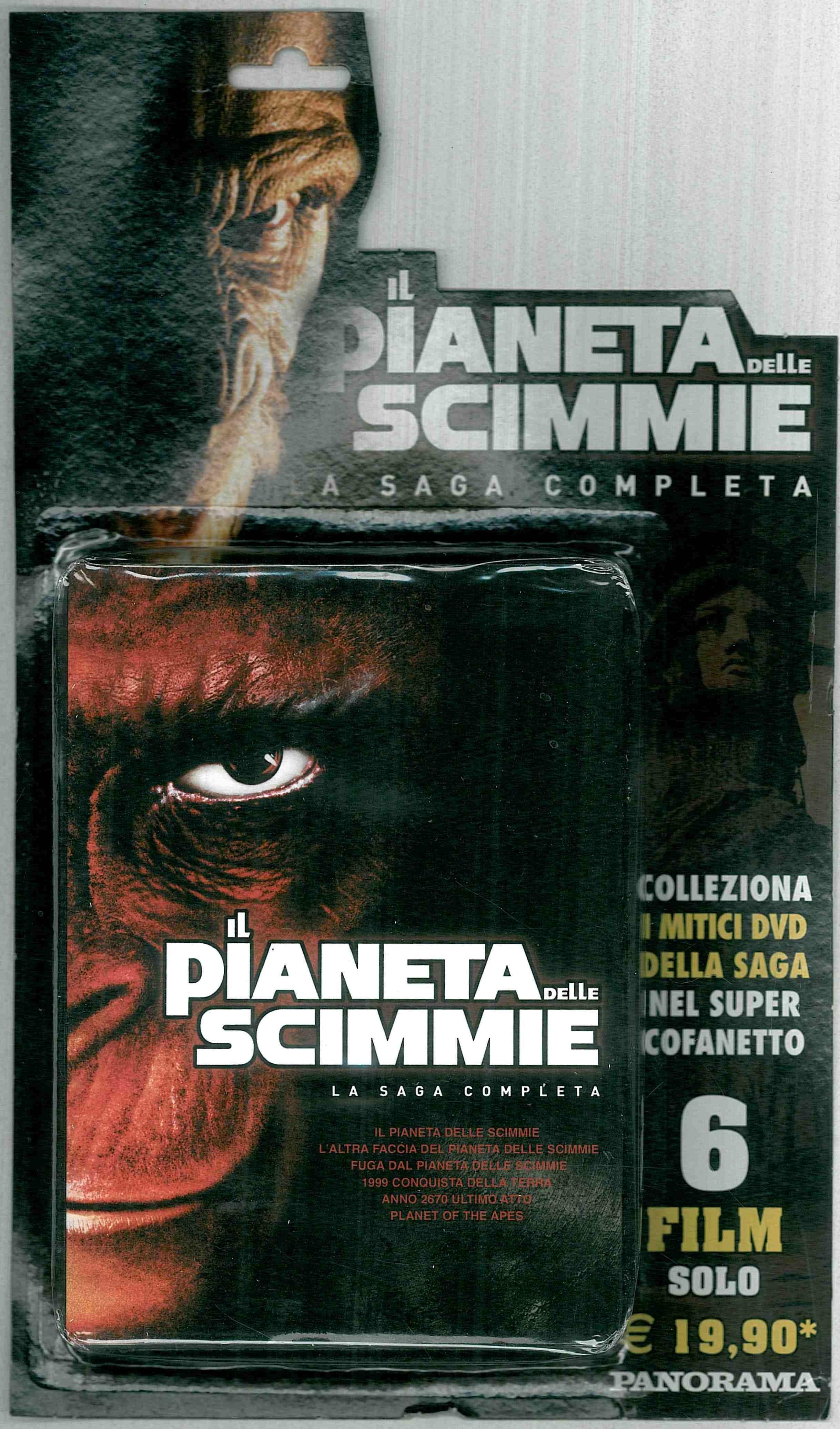 """La saga completa de """"il Pianeta delle scimmie""""-cofanetto c/6 Film"""