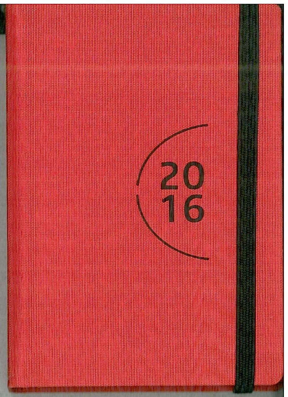 Agenda 2016 Giornaliera 7x10cm-Mod.115 TascaUno-Cangini Filippi rosso rubino