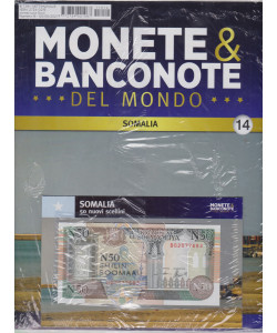 Monete e banconote del mondo  - uscita 14 - Somalia  - 50 nuovi scellini-   settimanale -5/5/2021