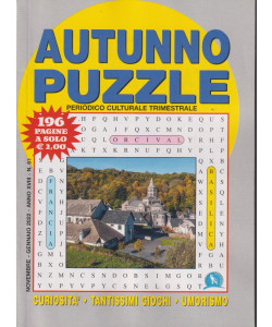 Autunno puzzle - n.61  -novembre - gennaio  2022  -Trimestrale -  196 pagine -