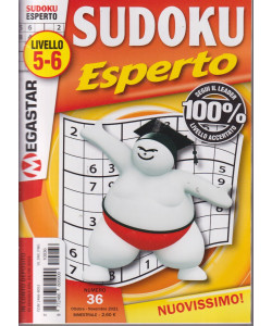 Sudoku Esperto - n. 36 - livello 5-6 - bimestrale - ottobre - novembre 2021