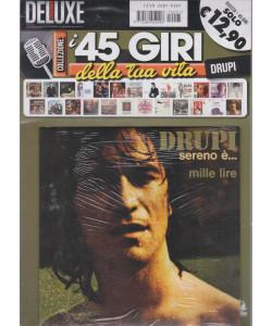Saifam Music Deluxe -I 45 giri della tua vita - Drupi - Sereno è....- Mille lire - n. 1 - bimestrale - rivista + 45 giri