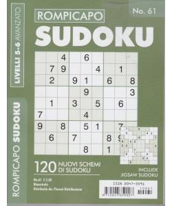 Rompicapo Sudoku - n.61 - livelli 5-6 avanzato - bimestrale