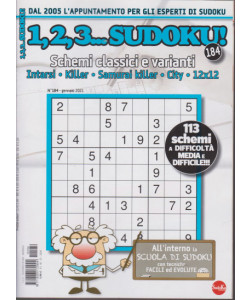 Abbonamento 1,2,3 Sudoku (cartaceo  mensile)
